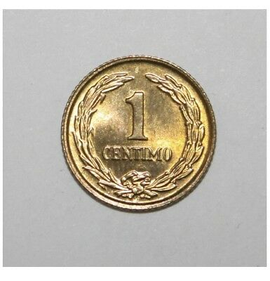 Paraguay 1 Centimo 1950 Brilliant Uncirculated Coin - Flower