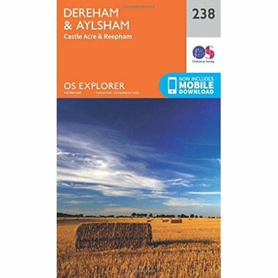 OS Explorer Map (238) East Dereham and Aylsham - Map NEW Ordnance Survey 2015-09
