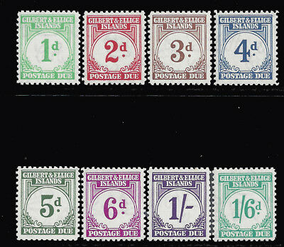 Gilbert & Ellice Islands Stamps 1940 1d-1sh6d Dues (SG#D1-D8) M £180/$252