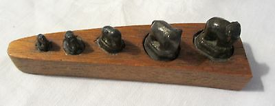 Antique Bronze Opium Weights