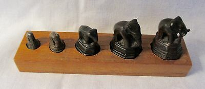 Antique bronze Opium Weights Set