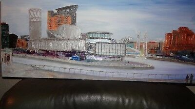 Original painting on Canvas - Lowry to Old Trafford Manchester - artist sale