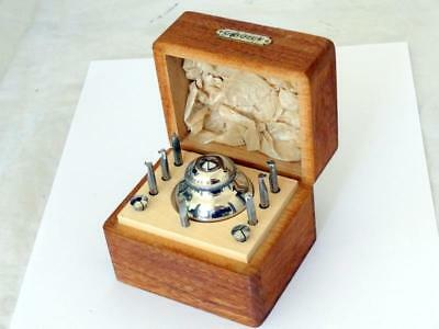 Vintage G BOLEY WATCH LATHE COLLET TOOL SET in WOODEN CASE GERMANY HOROLOGY VGC