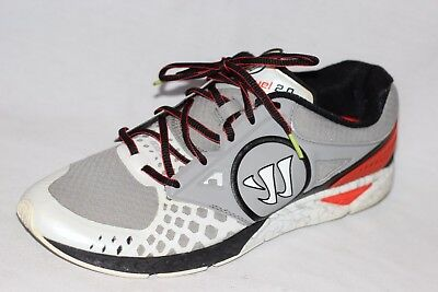 Warrior Prequel by New Balance White Gray LaCrosse Running Shoes Mens 12