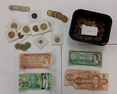 Lot of Various Canadian Currency (Coins/Paper) -- Face Value: $53.34