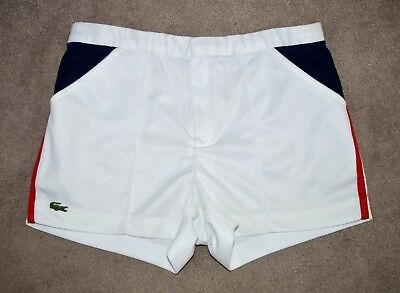 CHEMISE LACOSTE TENNIS SHORTS OLDSCHOOL VINTAGE THE BUSINESS CASUALS 70s 80s M