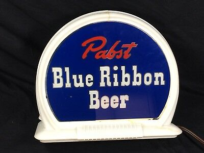Pabst Blue Ribbon Beer Sign Reverse Glass Lighted ROG Back Bar PBR Rare!
