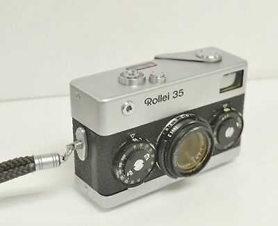 ROLLEI 35 Camera made in Germany Carl Zeiss f40mm 3.5 Lens Nr4643879 Tessar