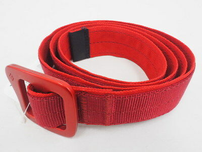 New! Black Diamond Unisex Buck Harness Inspired Belt with Anodized Buckle (Red)