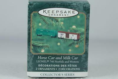 Hallmark '2000 Lionel Horse Car And Milk Car' 2nd Miniature Ornament New In Box