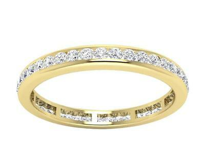 Eternity Anniversary Ring Natural Diamond SI1 H 1.01Ct 14kt Yellow Gold Size 6
