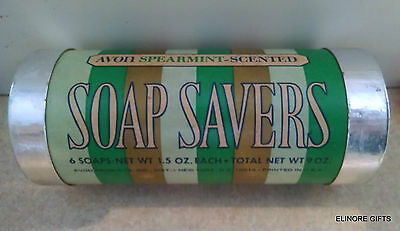 Avon Soap Savers Soap 5 of 6 Life Saver Shaped Spearmint Scented Soaps 1973