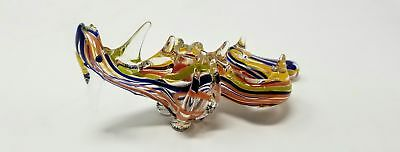 "Glass Dragon Tobacco Pipe 6.5"" 100G Collectible Hand Blown Animal"