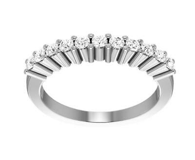 Real Diamond Engagement Wedding Ring VS1 F 0.35Ct Prong Set 14KT Gold Size 4-12