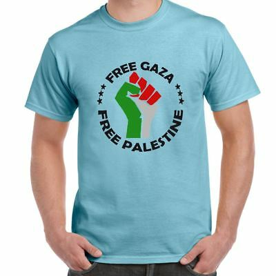 ALM786t-Mens Novelty tshirts-Free Palestine-I Stand With Gaza-Novelty gifts