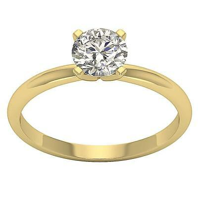 Solitaire Anniversary Ring 1.05Carat Natural Diamond 18K Yellow Gold Size 4-8
