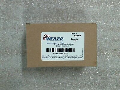 "NIB Pack of 10 Weiler 86103 3/4"" Nylox Coated Cup End Brushes - 60 day warranty"