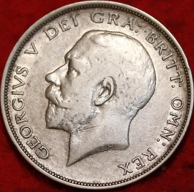 1914 Great Britain Half Crown Silver Foreign Coin