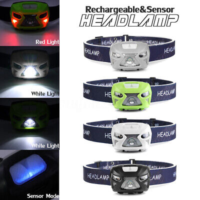 50000LM Motion Sensor Headlamp T6 LED Rechargeable Headlight Torch Lamp Light