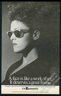 1985 Bernadette Peters photo by Greg Gorman LA Eyeworks BIG vintage print ad