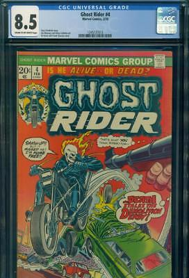 GHOST RIDER #4 CGC 8.5 VF+ VERY FINE+ Marvel Comics Bronze Age Comic Book LOOK