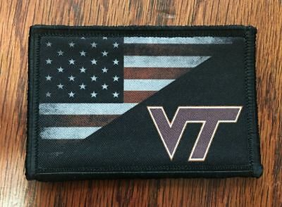 Virginia Tech USA FLAG Morale Patch Tactical Military Army Badge