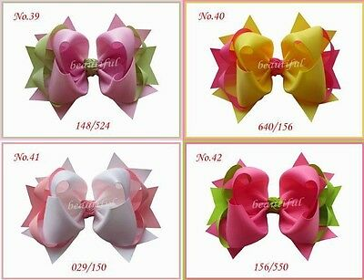 """100 BLESSING Good Girl Costume Boutique 6.5"""" Ring Hair Bow Clip 98 No. Custom"""