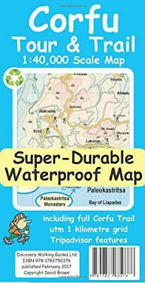 Corfu Tour and Trail Super-Durable Map by David Brawn | Map Book | 9781782750376