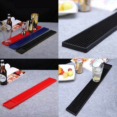Professional Extra Long Rubber Bar Service Mat Spill Rail Drink Beer Pad