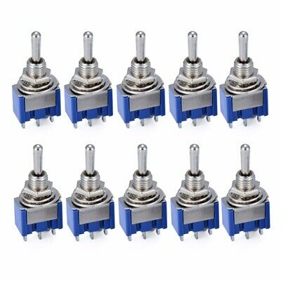 10pcs 3 positions SPST Interrupteur Bascule Commutateur 6A 125V/3A 250VAC