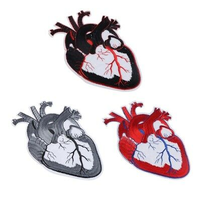 Heart Embroidery Patch For Clothing Punk Motif Iron DIY Badge Garment Decor