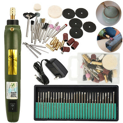 Electric Engraving Pen Engraver Jewelry Wood Carving Polishing Tool + 30X Drills