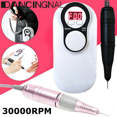 Rechargeable 30000RPM Electric Machine Cordless Nail Art Drill File Manicure Kit