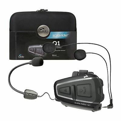 Cardo Scala Rider Q1 Solo Motorcycle/ Bike Bluetooth Intercom System+ MP3-BTSRQ1
