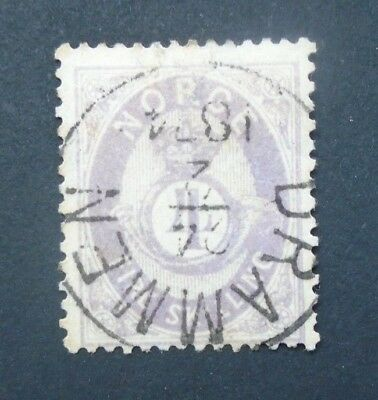 1872 4Sk Vf Used Norway Norge Norvege B50.6  0.99$