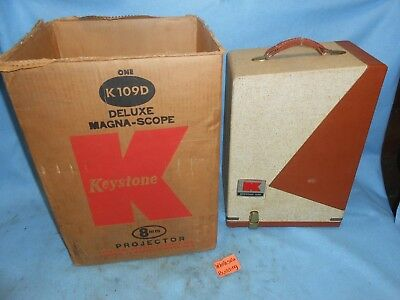 Vintage Keystone 109D, 8Mm, Movie Projector (In Original Case And Box)