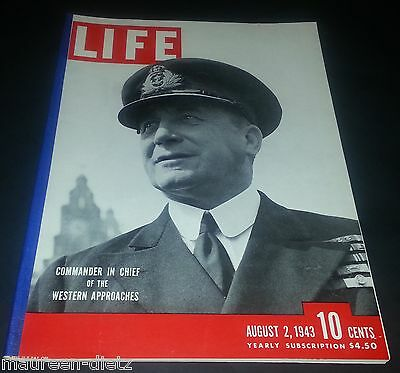 August 2, 1943 LIFE Magazine COKE ad 40s ads advertising FREE SHIPPING Aug 8 3 1