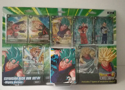 Dragon Ball Super Expansion Deck Box Set 1 - Mighty Heroes NEW