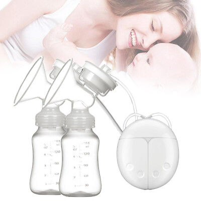 Electric Breast Pump Mute Intelligent Automatic Dual Baby Infant Feeding USB UK