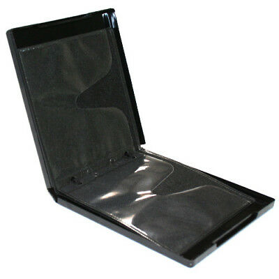 20 Premium Grade 16mm 8 Disc Black CD DVD PP Poly Cases with Refill Sleeves