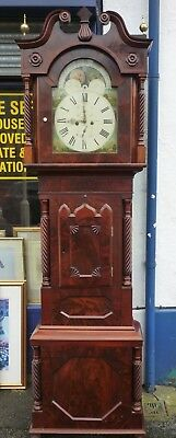Victorian Mahogany Moonphase Grandfather Clock In Good Working Order