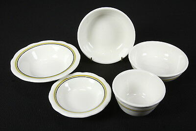 Buffalo Restaurant China 5 Assorted Pieces 'BUF32' Pattern Black Mustard Rings