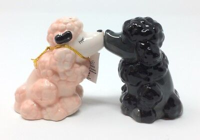Westland Giftware MWAH! Kissing Poodle Dogs Magnetic Salt & Pepper Shakers