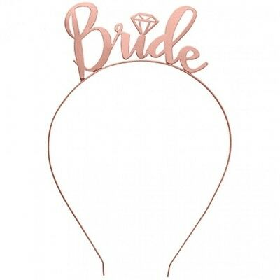Hens Night Party ROSE GOLD Bride Headband