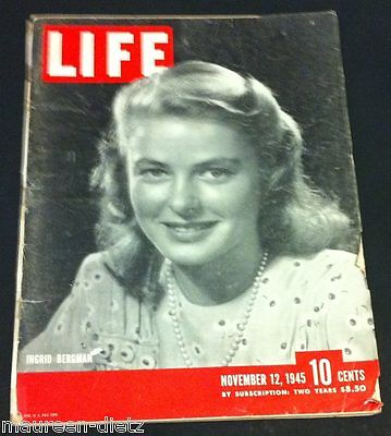 November 12, 1945 LIFE Magazine WWII War 40s advertising ad FREE SHIPPING Nov 11