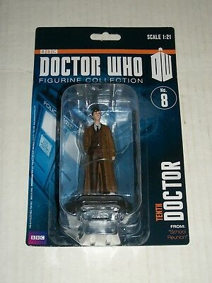 Eaglemoss BBC Doctor Who TENTH DOCTOR Figurine Collection 8 School Reunion NEW