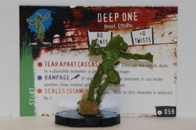 WIZKIDS HEROCLIX HORRORCLIX # 059 DEEP ONE Rare W/CARD