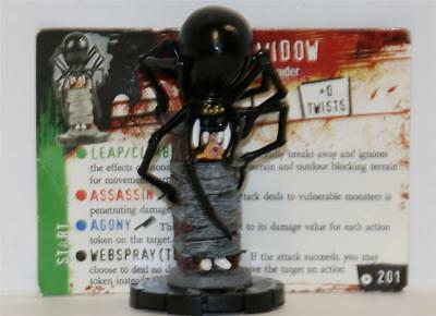 WIZKIDS HEROCLIX HORRORCLIX # 201 THE WIDOW Rare W/CARD