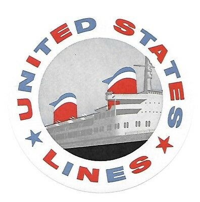 Authentic Vintage Luggage Label ~ UNITED STATES CRUISE LINES