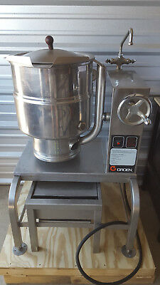 Groen Tdbc-40 Stainless Jacketed Steam Kettle W/ Faucet And Stand